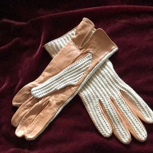 Accessories - Knit and leather gloves.